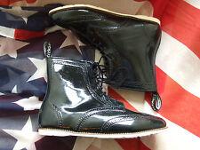 Dr Marten Delfina Negro Patente botas talla 5 (Aug16)