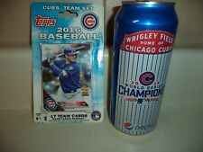 Official 2016 Chicago Cubs Topps Team Set 17cd Kris Bryant Anthony Rizzo Baez
