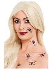 Halloween 3D Spider Autocollant Tatouage robe fantaisie transferts Make up Par Smiffys