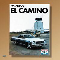 1975 Chevrolet EL CAMINO Mint UNCIRCULATED Color Glossy Dealer Brochure #3027