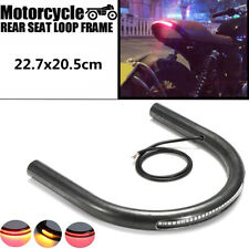 227mm Cafe Racer telaio Hoop Tracker sede piana Loop & Disabilita segnale LED lu