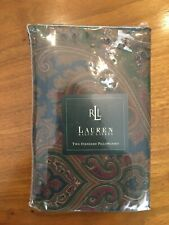 Ralph Lauren Brianna Paisley (Two) Standard Pillow Cases New In Package RARE