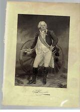 BENJAMIN LINCOLN vintage engraving Major General  Shay's Rebellion