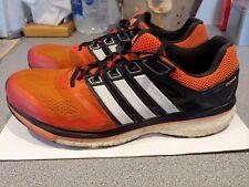 Para Hombre ADIDAS GLIDE BOOST Running Zapatos, Entrenadores Talla 9.5 Reino Unido Naranja/Negro