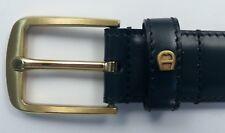 Aigner Gürtel Kalb Leder - Schliesse Goldfarben matt, Breite 3cm, viele Farben
