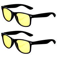 2er Set Autofahrer Kontrastbrille Auto Nachtfahrbrille Nachtsichtbrille Brille
