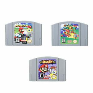 Mario Kart 64 Super Mario 64 Super Smash Bros. Video Game Cartridge Nintendo N64