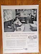 1958 Mobile Home Manufacturers Ad  The Mobil Home  New Living Trend Moving Easy