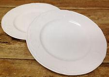 59780 Mikasa Hampton Bays White Embossed Shell Ultra Cream 2 Dinner Plates DY900