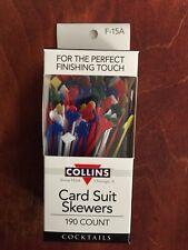 "190ct 2 5/8"" Plastic Card Suit Skewers Cocktail Condiment Stick Spears Picks"
