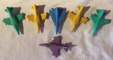 1970s Lesney Matchbox Eraser Planes(6) Very Nice Complete Condition-Rare See Pic