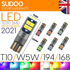 501 w5w T10 LED 3030 SMD Car Bulb Light Canbus error FREE NEW for 2021