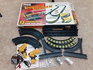 Tyco Double Danger Racing Set with 2 Working Cars track original box Complete