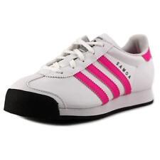 Chaussures blanches adidas en cuir pour fille de 2 à 16 ans