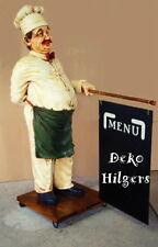 Figur Chef Koch Lebensgroß Werbeaufsteller Dekoration Reklame Skulptur Werbung
