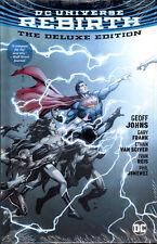 DC UNIVERSE REBIRTH DELUXE EDITION HARDCOVER Geoff Johns Watchmen HC