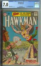 HAWKMAN #1 CGC 7.0 CR/OW PAGES