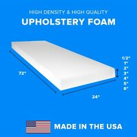 """High Density Upholstery Foam Seat Couch Cushion Replacement - 24"""" x 72"""""""