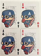 CAPTAIN AMERICA Set of 4 FUNKO Pop MARVEL Playing Cards - ACE,KING,QUEEN,JACK