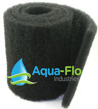 "6""x 74""x 1.25"" Coarse Black (2 Pack) Universal Pond Filter Fountain Mat Media"