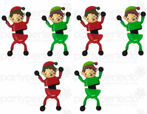 6 Elf Window Crawlers - Stocking Toy Loot/Party Bag Fillers Childrens/Kids