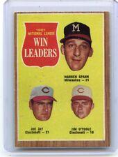 1962 TOPPS BASEBALL #58 N.L. WIN LEADERS (w/ WARREN SPAHN, JAY, O'TOOLE), 100617