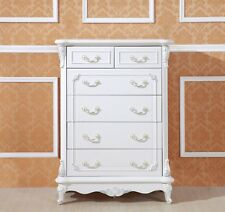 Devonport French Provincial  shabby chic 6 chest of drawers/ Tallboy