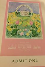 PRES TRUMP WHITE HOUSE TICKET  EASTER EGG ROLL  2017 Signed Melania & Donald