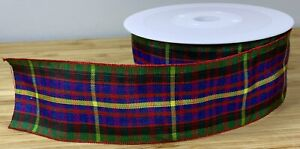 Wide Traditional Tartan Ribbon Christmas Bow Gift Present Cake SOLD PER METER