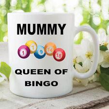 Bingo Mug Mummy Queen Of Bingo Mothers Day Gift Birthday Coffee Cups WSDMUG607