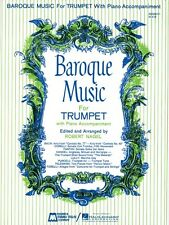 Baroque Music for Trumpet Trumpet and Piano Brass Solo NEW 000008311