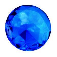 Big 60mm Cobalt Blue 60 mm Cut Glass Crystal Giant Diamond Jewel Paperweight Gem
