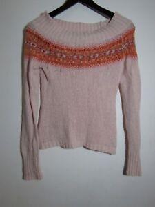 American Eagle AEO Girls M 10 12 Pink Angora Rabbit Hair Shirt Sweater