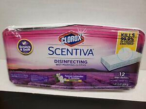 Clorox Scentiva Disinfecting Wet Mop Clothes - Lavender & Jasmine