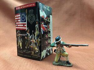 King & Country's 1776 - American Marine Kneeling Firing Figure - AR52 - w/Box