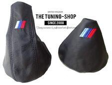 For Bmw E36 E46 Gear & Handbrake Boot Black Leather M3 /// Embroidery