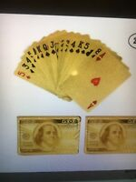 24K Gold Plated Playing Cards  with Dollar Sign  BUY 1 for $6.79 OR 2 For $12.99