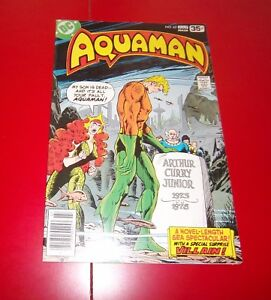 AQUAMAN #62 WALL CAME TUMBLIN' DOWN! W/ MERA BRONZE AGE - 1978 GREAT COND