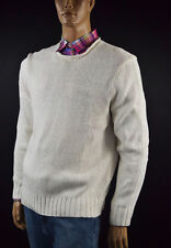 Ralph Lauren Cream Rolled Neck Linen, Silk Sweater -Large- NWT- $165