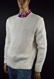 Ralph Lauren Cream Rolled Neck Linen, Silk Sweater -Large- NWT- $165