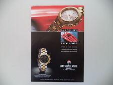 advertising Pubblicità 1992 RAYMOND WEIL AMADEUS 200