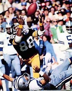 Lynn Swann - Steelers, Catch Super Bowl X, 8x10 color photo