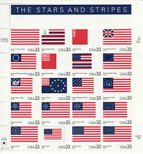 STARS AND STRIPES STAMP SHEET -- USA #3403, 33 CENT, MINT