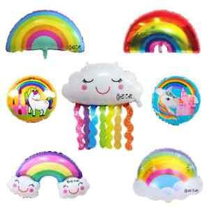 Regenbogen Folienballon Unicorn Ballons Fancy Mädchen Geburtstag Baby Party