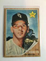 F67086  1962 Topps #479 Joel Horlen RC WHITE SOX