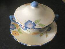 CROWN DUCAL ROSEMARY LIDDED CONSUME BOWL AND SAUCER