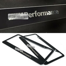 License Plate Aluminum Metal Black Frame Chrome M Performance Logo 2P for BMW
