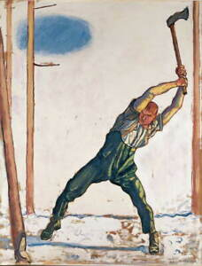 Ferdinand Hodler Woodcutter Poster Reproduction Paintings Giclee Canvas Print