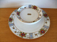 """Nippon  Rare 2-Tier Serving Plate Tray  (Rising Sun)  D  9""""  H  2 3/8"""""""