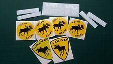 11 DECAL SET Volvo shield moose elk sticker racing sport animal sticker 11 pcs
